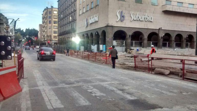 Reabren la circulación a la avenida Juárez y 16 de septiembre
