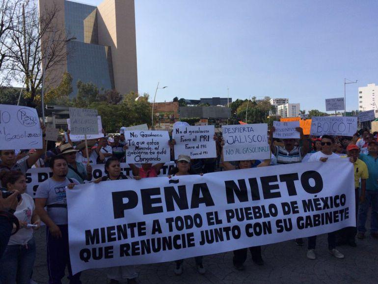 Fiscalía investiga a sujetos detenidos en manifestación vs gasolinazo