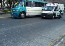 Camión atropella a hombre en el Centro Histórico