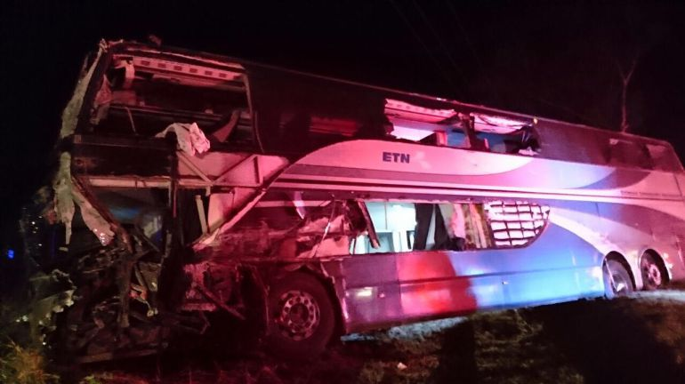 Accidente deja 14 lesionados en Tuxpan, Jalisco