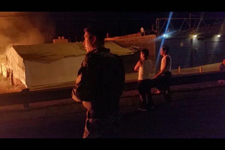 Debido a la pronta reacción de los elementos de la FGJ, la familia salió ilesa del incendio
