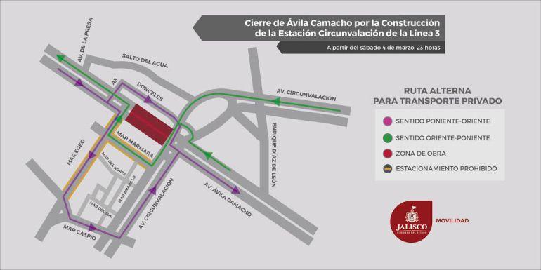 Cerrarán circulación de av Ávila Camacho; camiones cambiarán de ruta