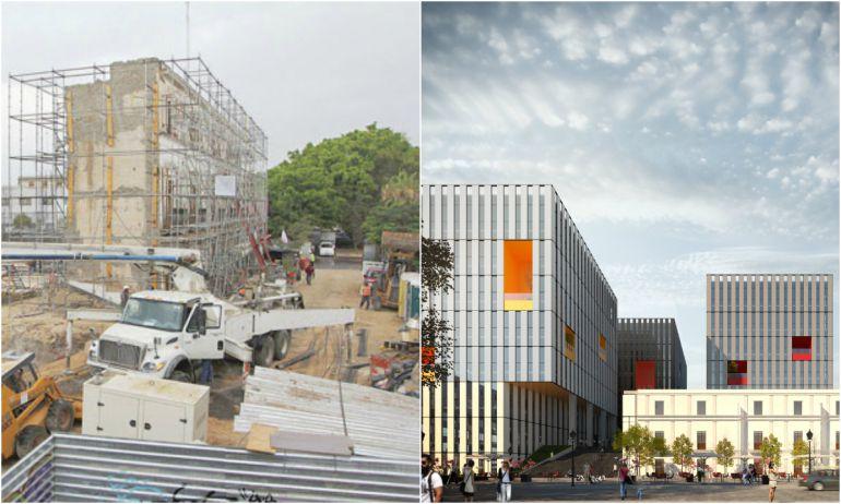 izquierda: así luce el complejo/ derecha: de acuerdo al proyecto digital así deberá quedar la CCD