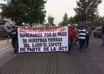 SCT espera que autoridades judiciales resuelvan brevemente el tema con el ejido El Zapote