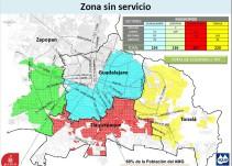 SIAPA anuncia cortes de agua a partir del jueves 13