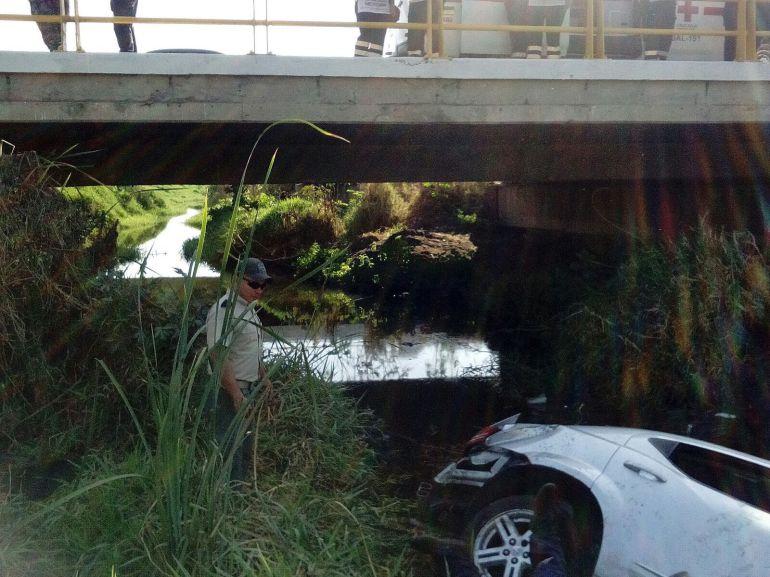 Se cree que el vehículo fue alcanzado por otro automotor