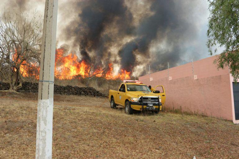 Se registran cuatro incendios forestales en distintos puntos de Jalisco