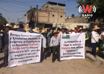 Se manifiestan ejidatarios de El Zapote