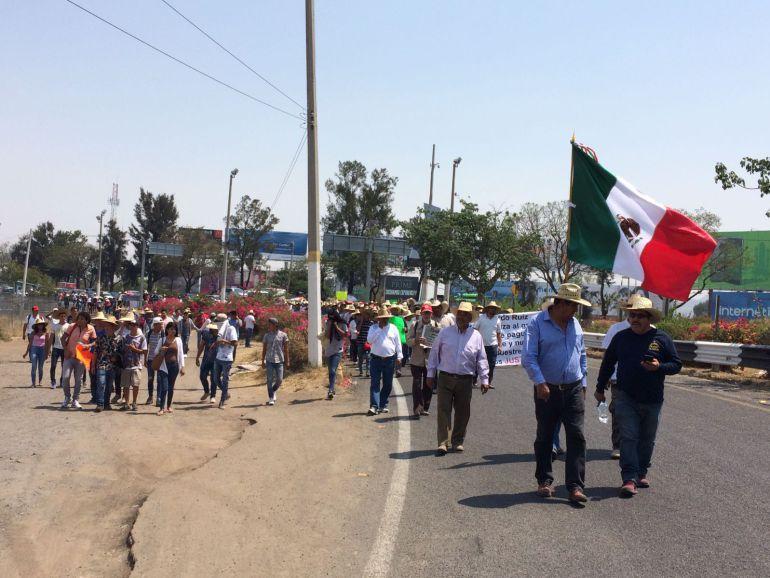 Concluye manifestación de ejidatarios de El Zapote