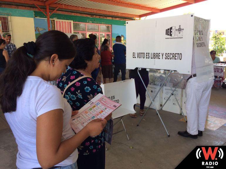 Saldo blanco en Nayarit tras la primera mitad de la jornada electoral