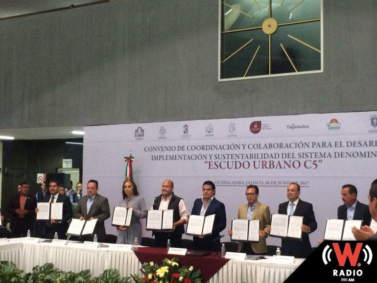 Firman convenio alcaldes y gobernador para la creación del Escudo Urbano de Seguridad