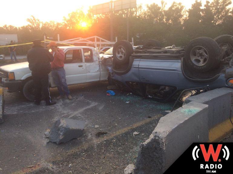 Registran dos muertos y varios lesionados en al menos dos accidentes