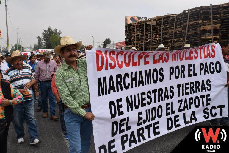 Manifestación de ejidatarios de El Zapote afectó a usuarios del Aeropuerto