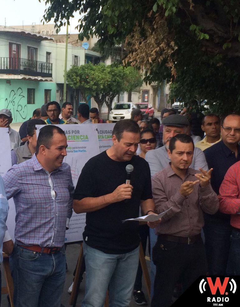 Guadalajara entrega obras de pavimentación en la colonia San Martín