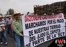 Gobierno intervendrá en manifestación de ejidatarios de El Zapote en caso de bloqueos