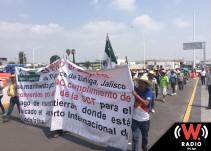 Cumple una semana la marcha de los Ejidatarios de El Zapote