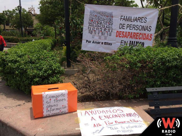 Familias de desaparecidos colocan buzón para recibir información anónima