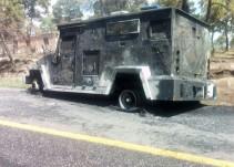 Se incendia camión de valores con más de un millón de pesos