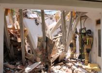Dos mujeres sobreviven a un derrumbe de bóveda
