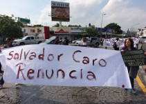 Policías exigen renuncia de Salvador Caro