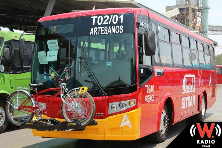 Del SITRAN, sólo cuatro unidades de ruta 703 están modificadas para personas con discapacidad