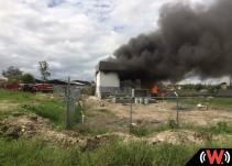 Se registra incendio en planta de tratadora de agua en Tonalá