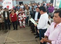 Aristóteles Sandoval entrega obras en la zona norte de Jalisco