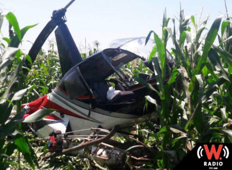 Se desploma un helicóptero en San Ignacio Cerro Gordo