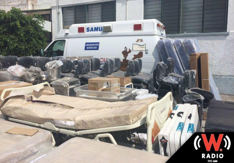 SSJ entrega equipo para hospitales