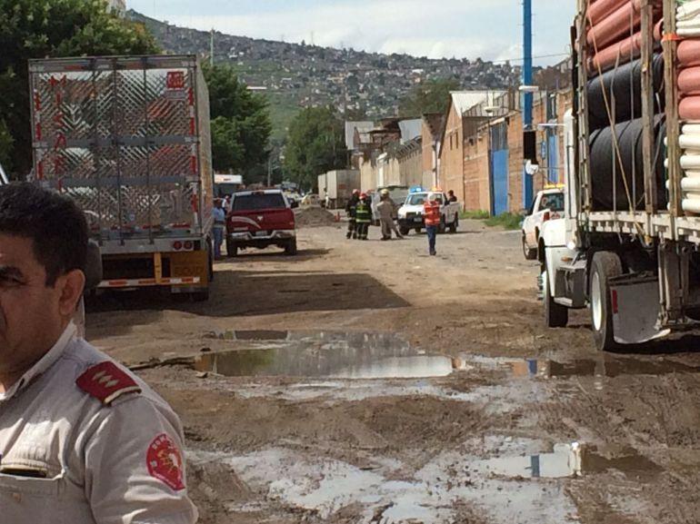 Perforadora provoca fuga de gas en Zona Industrial