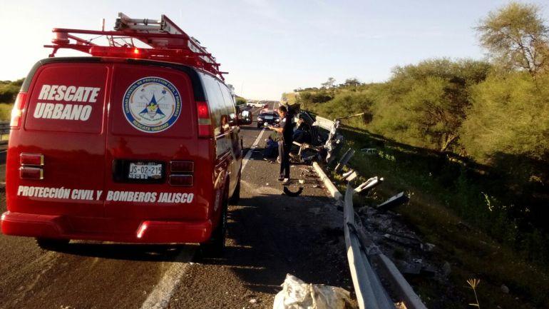 Accidente en la autopista Guadalajara- Lagos de Moreno deja 4 muertos