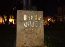 Vandalizan esculturas de la Rotonda de los Jaliscienses Ilustres