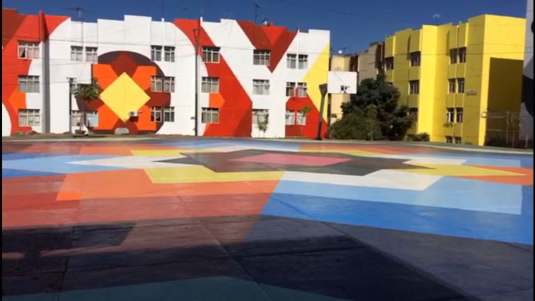 Madrid obsequia murales a vecinos de Lomas de Independencia