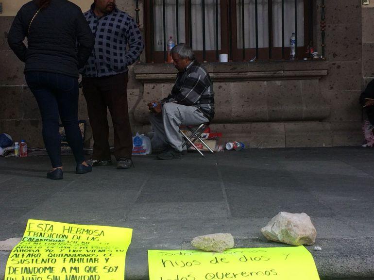 Calandrieros mantienen huelga de hambre