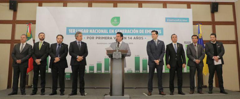 Jalisco lidera la creación de empleos en México: ASD