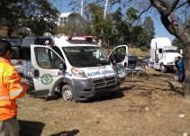 Una ambulancia y un tráiler involucrados en una carambola en carretera a Chapala