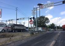 Sin funcionar los semáforos preventivos en cruceros de ferrocarril