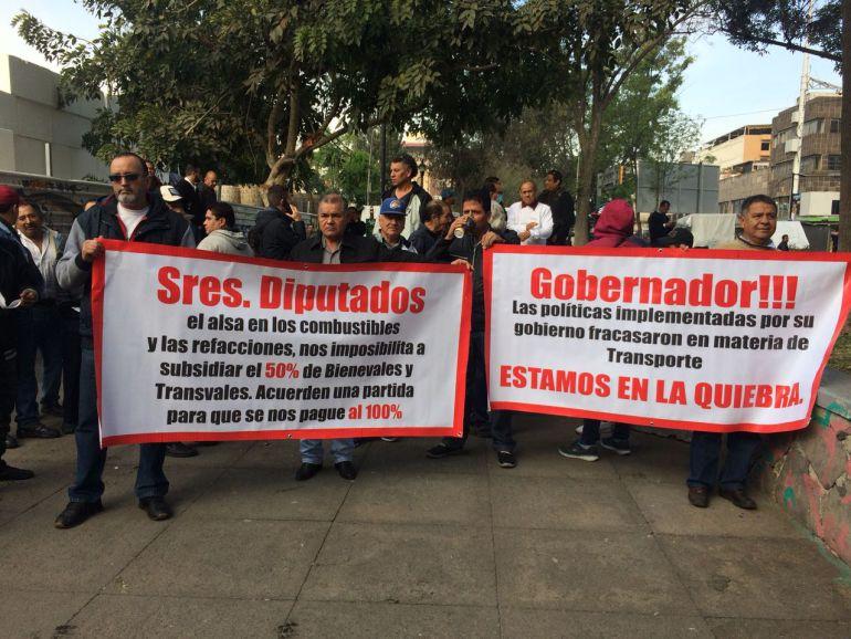 Camioneros exigen subsidio del 100% a Transvales y Bienevales