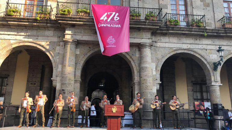 Inician los festejos del 476 aniversario de la fundación de Gudalajara