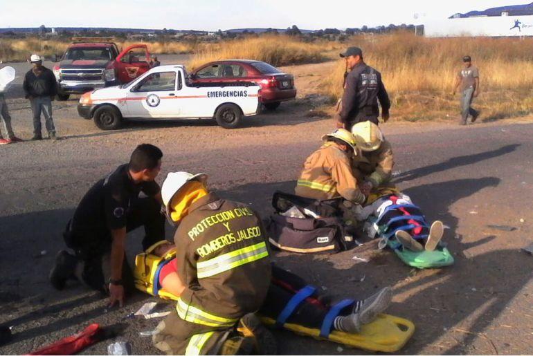 Carambola en carretera libre Lagos-San Luis Potosí deja víctimas mortales