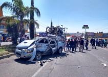Lesionados tras accidente ocho peregrinos de la Virgen de la Candelaria