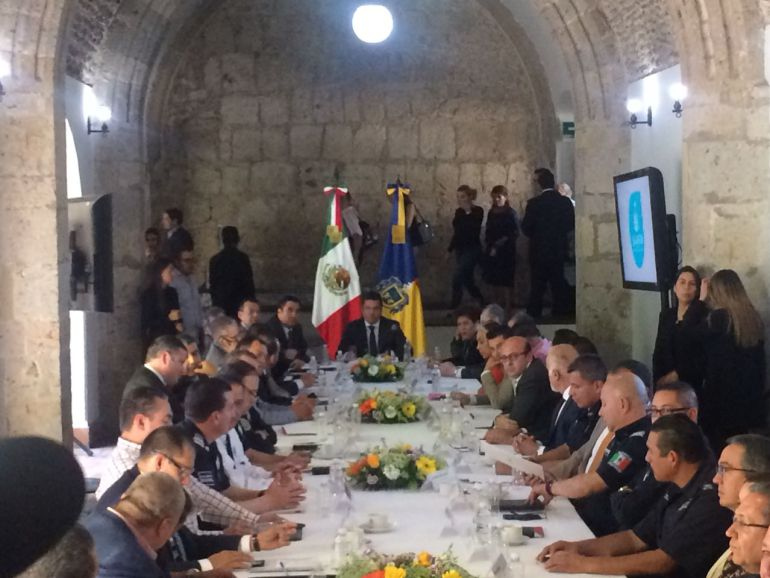 Se reúnen alcaldes y gobernador para abordar temas de seguridad en Jalisco