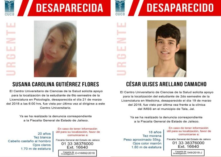 FEU convoca a paro general en la UdeG por desaparicidos
