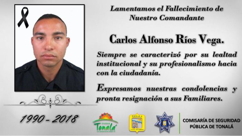 Fallece policía de Tonalá que se disparó accidentalmente