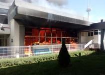 Se incendia gimnasio del CODE