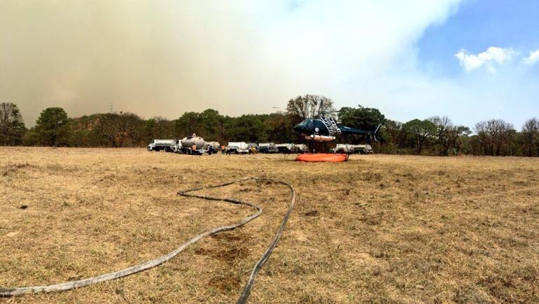 Activan Emergencia Atmosférica y suspenden clases por incendio en La Primavera