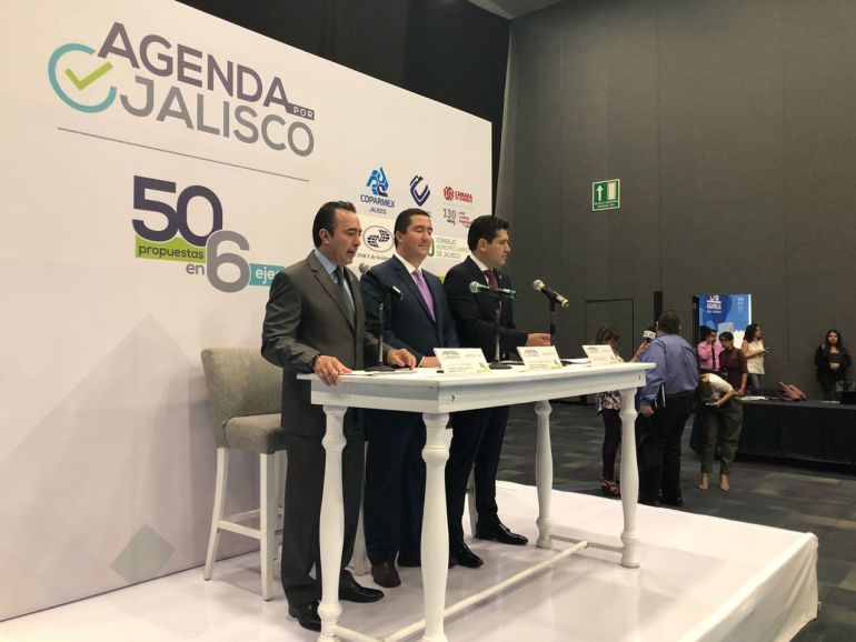 Cúpulas empresariales lanzan agenda por Jalisco