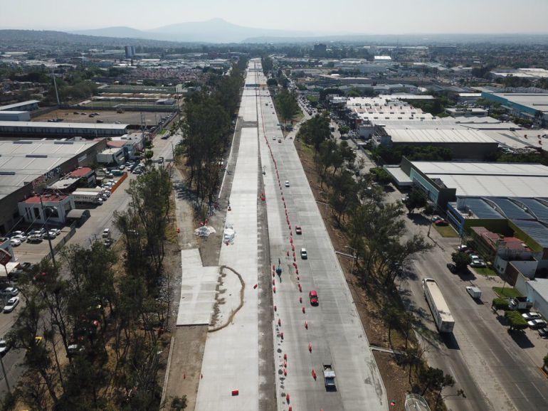Obras de repavimentación en Periférico con avance del 70%