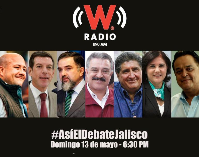 Sigue aquí la transmisión del debate para gobernador de Jalisco