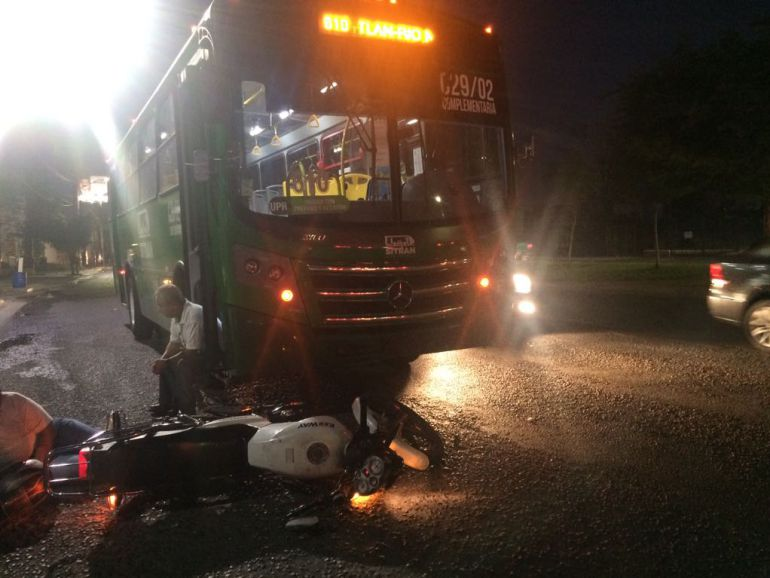 Accidentes del transporte público deja siete lesionados